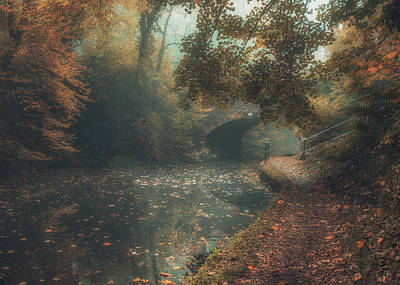 Canal Photograph - If I Could Paint Autumn by Chris Fletcher