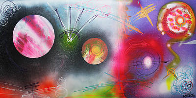 Sphere Painting - If I Were A Galaxy by Laura Barbosa
