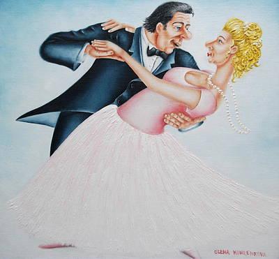Dancefloor Painting - If I Were A Salad I Would Be Splashing My Dressing by Elena Kourenkova