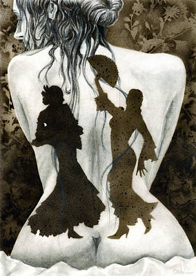 Flamenco Mixed Media - If My Shadow Spoke by Miko At The Love Art Shop