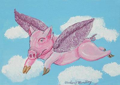 If Pigs Could Fly Art Print by Gordon Wendling