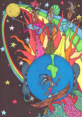 Rasta Drawing - If The Earth Had Ears by Jerry Ray Orr