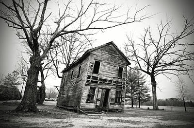 Photograph - If These Walls Could Talk B W 1 by Joseph C Hinson Photography