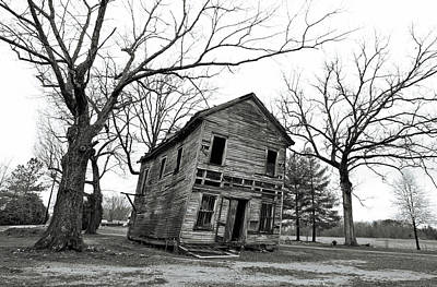Photograph - If These Walls Could Talk B W 2 by Joseph C Hinson Photography