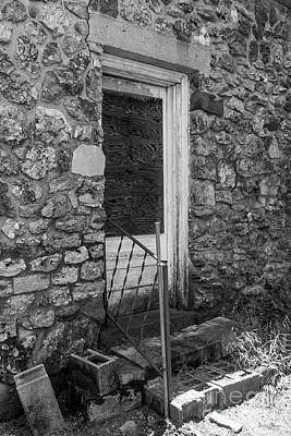 Photograph - If This Back Door Could Talk Grayscale by Jennifer White