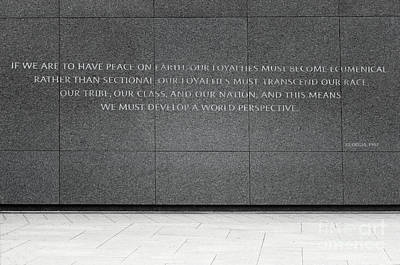 Photograph - If We Are To Have Peace by Karen Adams