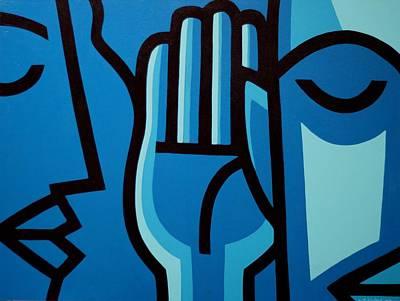 Lips Painting - If You Listen You Can Hear II by John  Nolan