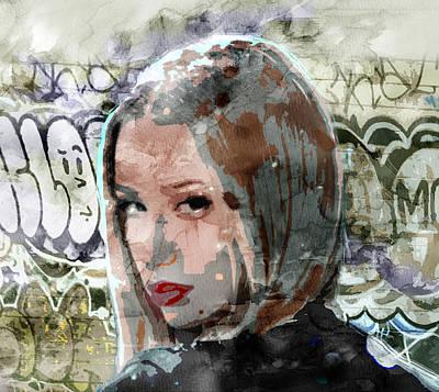 Evansville Drawing - Iggy Azalea Graffiti 3 by Jani Heinonen