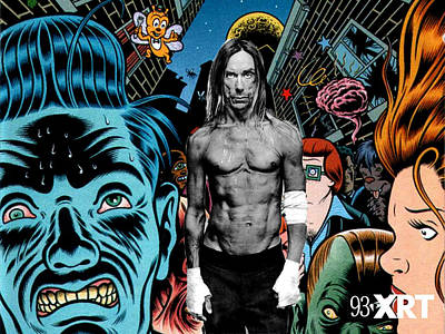 Pop Art Digital Art - Iggy Pop by Maye Loeser