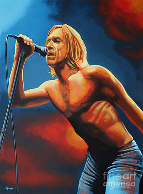 Iguana Painting - Iggy Pop Painting by Paul Meijering