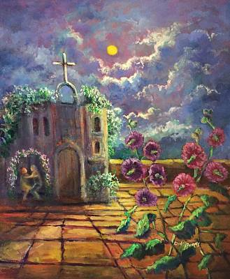 Puebla Painting - Iglesia Antigua En Mexico/a Little Church In Mexico by Randy Burns