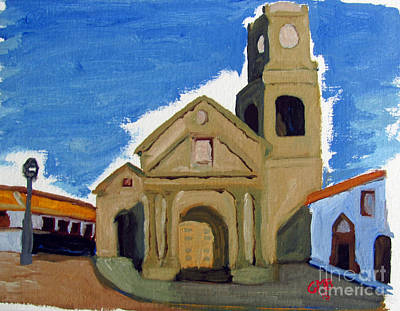 Church Painting - Iglesia San Agustin La Serena by Greg Mason Burns