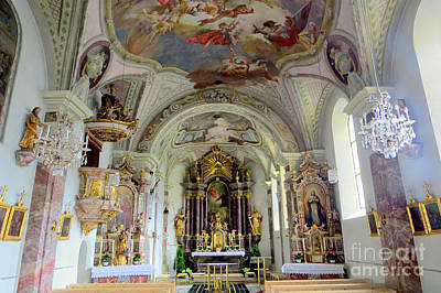 Photograph - Igls Cathedral by Frank Townsley