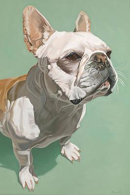 Frenchie Painting - Ignatius by Nathan Rhoads