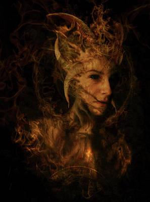Mystic Digital Art - Ignis Luciferi by Cambion Art
