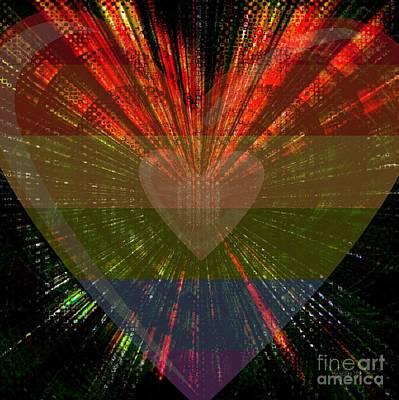 Faniart Africa America Digital Art - Ignite My Heart by Fania Simon