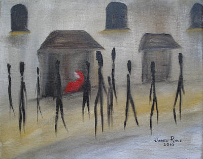 Ignoring The Homeless Art Print by Judith Rhue