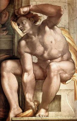 Painting - Ignudo Number One Of 1510 by Michelangelo Buonarroti