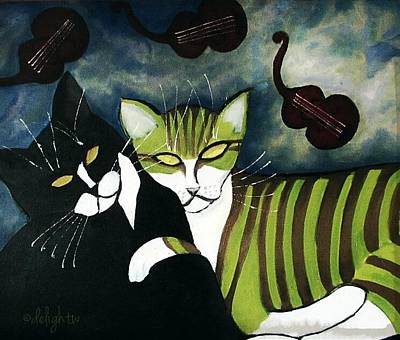 Painting - Igor And Dudley by Delight Worthyn