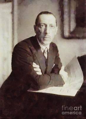 Igor Stravinsky, Composer By Sarah Kirk Art Print