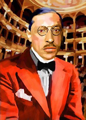 Igor Stravinsky's Portrait Original by Maciej Mackiewicz