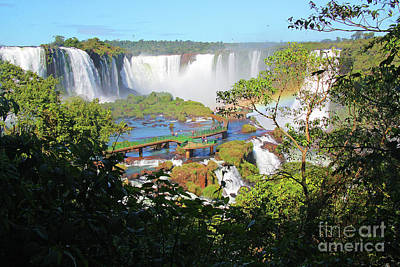 Photograph - Iguacu Falls Overview by Nareeta Martin
