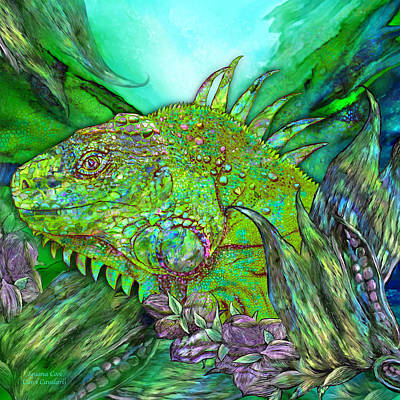 Mixed Media - Iguana Cool by Carol Cavalaris
