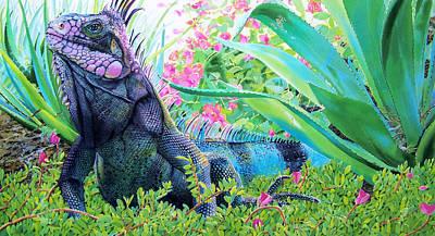 Iguana Painting - Iguana by Denny Bond