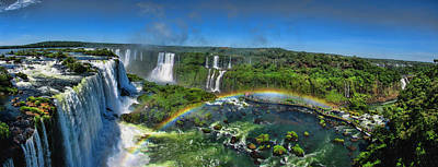 Iguazu Panorama Art Print by David Gleeson