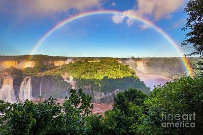 Brazil Photograph - Iguazu Rainbow by Inge Johnsson