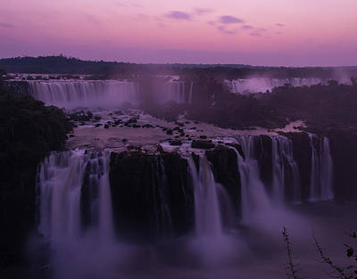 Iguazu Sunset In Violet Art Print