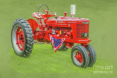 Digital Art - Ih Farmall Farm Tractor by Randy Steele