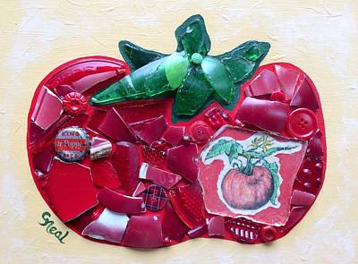 Mixed Media - Heirloom Ruby Red by Carol Neal