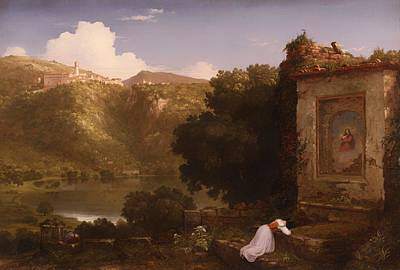 Christian Artwork Painting - II Penseroso by Mountain Dreams