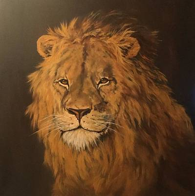 Painting - Lion by Jean Walker