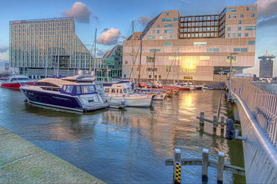 Photograph - Ij Dock, Amsterdam by Nadia Sanowar