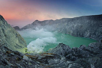 Ijen Crater Art Print by Alexey Galyzin