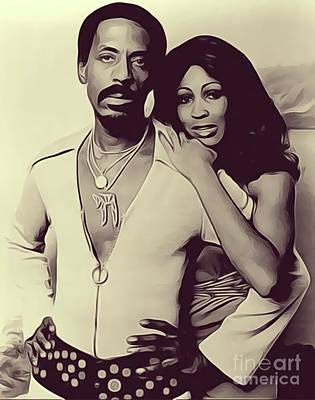 Rock And Roll Royalty-Free and Rights-Managed Images - Ike and Tina Turner by John Springfield