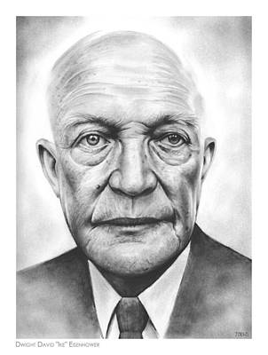 Wwii Drawing - Ike by Greg Joens