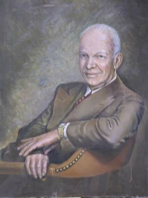Eisenhower Painting - Ike by Angelo Urso