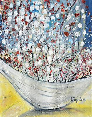 Painting - Ikebana Delight by Evelina Popilian