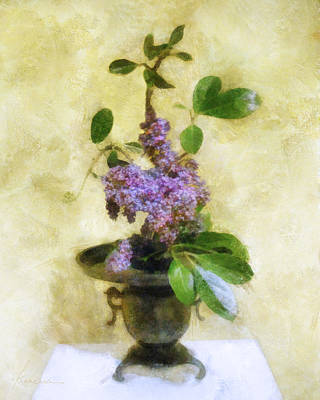 Digital Art - Ikebana Lilacs by Francesa Miller
