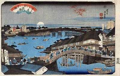 Photograph - Ikeda Ryogoku Bridge, C1846. by Granger