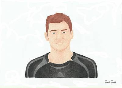 Drawing - Iker Casillas  by Toni Jaso