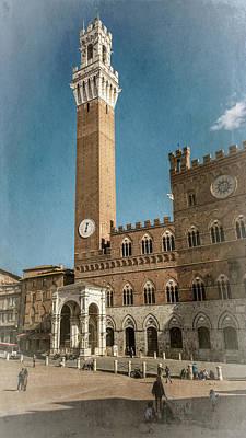 Il Campo Siena Italy Art Print by Joan Carroll