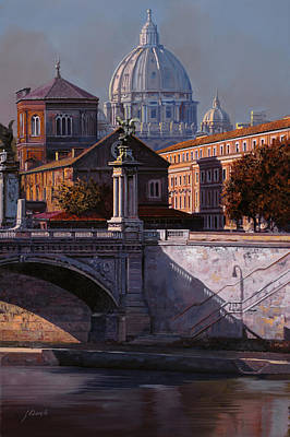 River Wall Art - Painting - Il Cupolone by Guido Borelli