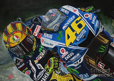 Motogp Painting - Il Dottore by Jose Mendez
