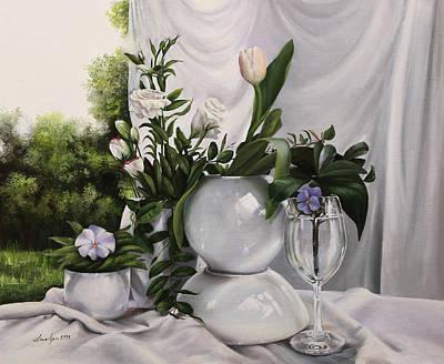 Il Fiore Nel Bicchiere Art Print by Danka Weitzen