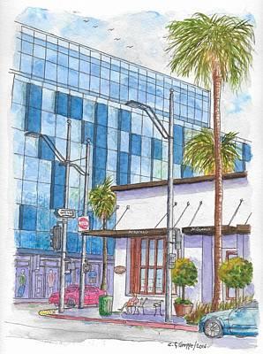 Il Fornaio In Beverly Hills, California Original by Carlos G Groppa