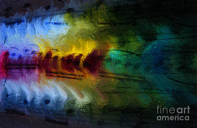 Digital Art - Il Fuoco Di Musica by Lon Chaffin